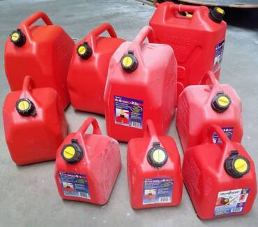 Jerry cans assorted sizes price from $5.00