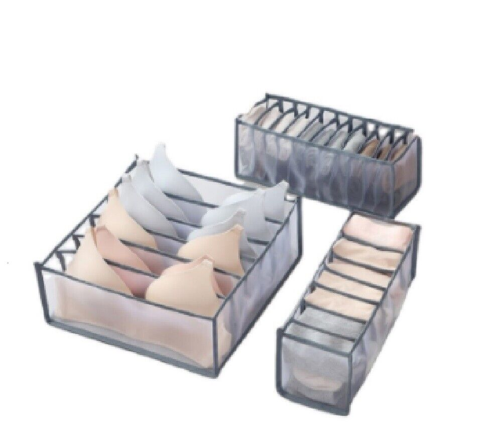 Foldable Drawer Organizer Divider Closet Storage Box For Underwear Bra Sock US Home & Garden