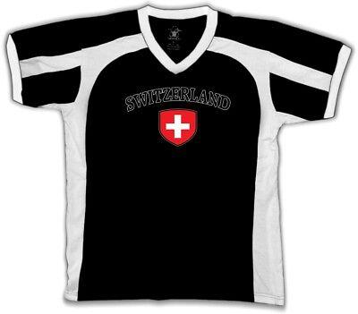 Switzerland Flag Crest Swiss Suisse National Country Pride Retro Sport T-shirt ()