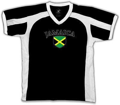 Jamaica Flag Crest Jamaican Irie Mon National Country Pride Retro Sport T-shirt