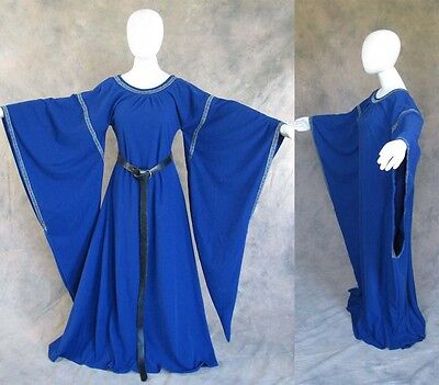 Blue Bell Sleeve Medieval Dress Cosplay Gown GOT Game of Thrones Costume 2X 3X