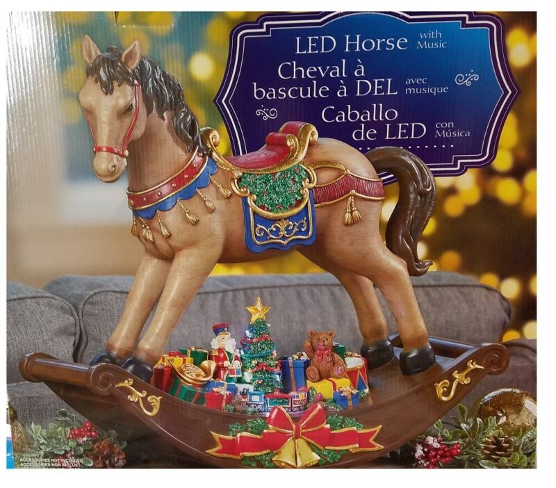 19inch LED Rocking Horse With Christmas Songs Costco Decoration Lighted Musical