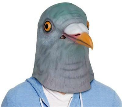 Fancy Dress Halloween Bird Head Mask Latex Pigeon Animal Cosplay Party Costume](Latex Bird Mask)