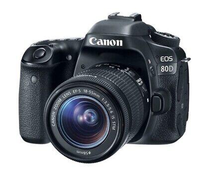USA Canon EOS 80D 24.2MP DSLR & Kit STM IS EF-S 18-55mm f/3.5-5.6 + Warranty! Canon Usa Warranty
