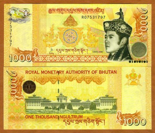 Bhutan,  Kingdom, 1000 Ngultum, 2008, P-34a, UNC > Highest Denom