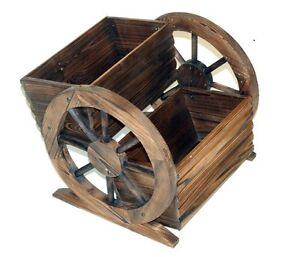 Garden Style Burntwood 2 Tier Wheel Planter - 253