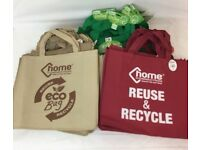 BRAND NEW 60 X ECO SHOPPING BAGS JOB LOT WHOLESALE - RESALE - CAR BOOT