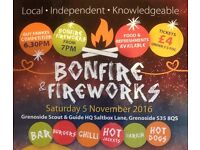 Bonfire & Fireworks - Saturday 5th November - Grenoside Scout and Guide HQ