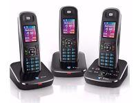 bt aura 1500 trio digital cordless phone with answering machine (high spec) colour screen