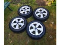 Ford 17 inch alloy wheels with tyres
