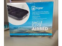 Single flocked airbed new in box
