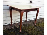 Sturdy Vintage Wood Occasional Table Upcycling Project?