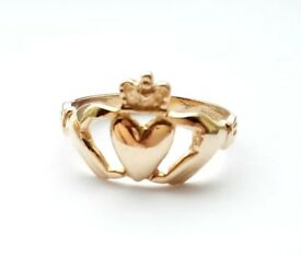 3 x Rings 9ct Gold Size M, Hallmarked