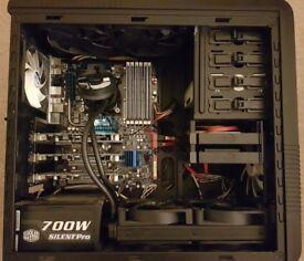 Water-cooled Hexa-Core i7 4K+ 6-Monitor Ergomounts VisionPro