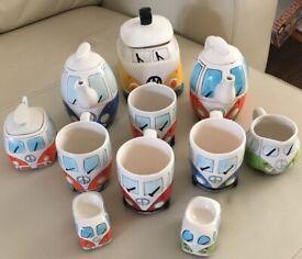Campervan China tea set