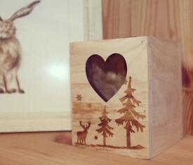 Christmas Wooden Candle Holder..♡