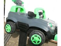 Electric ride-in kids electric car sirens,lights,audio buttons. Reverse. Charger