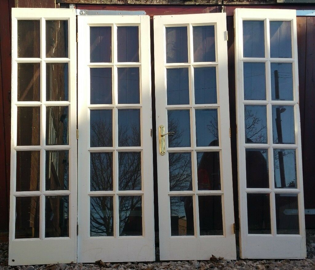 Double Doors And Side Panels Bevelled Glass 2170w X 2000h In Stoke