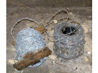 2 rolls Barbed wire.