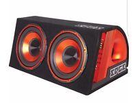 "Edge twin 12"" amplified bass box"
