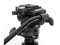Manfrotto #200 fluid video tripod head with quick release plate