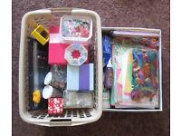 Job lot for card-making/scrapbooking (card blanks, PVA, sequins, glitter etc.)