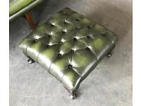 Vintage Chesterfield Leather Footstool for Sofas . Can Deliver