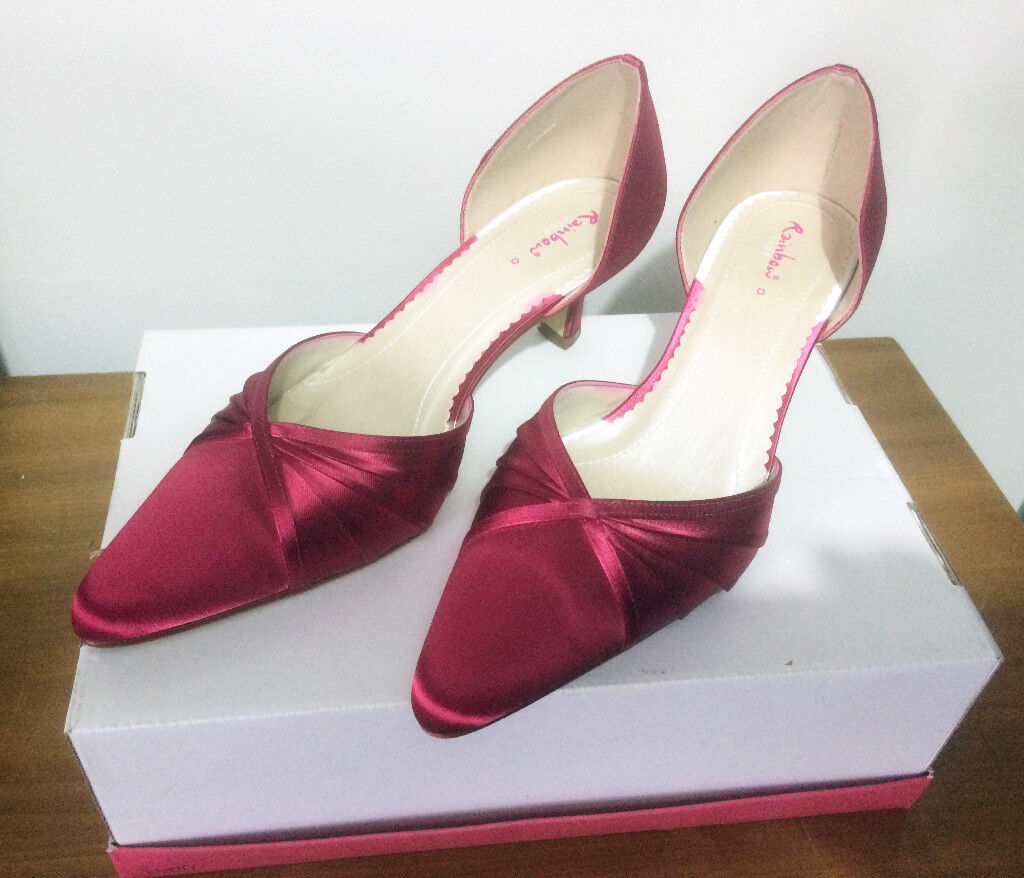 RAINBOW CLUB Bethany Fuschia Pink Occasion shoes, Size 6, Fabulous condition