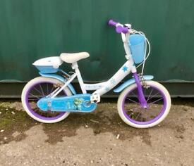 Girls frozen bike 16'' wheels £25