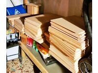 MDF Wood - Unused Off Cuts - Various Sizes - 100 + Pieces
