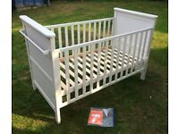 White cot bed. Lovely