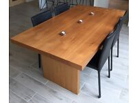 Walnut Dining Table, Chairs and Sideboard