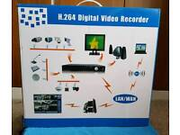 Complete (New and Unused) HD CCTV system inc cables, remote and power supplies.