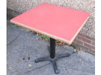 Retro Pub Table on a Heavy Cast Iron Pedestal