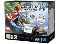 Nintendo Wii U 32GB Premium Pack with Mario Kart 8 (barely used, almost new)