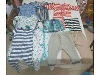 Boys Next 9-12 months 12-18 months sleepsuits shorts and trousers