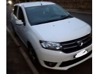 Dacia Sandero 0.9 Tce Laureate top specification White FSH £30 tax, insurance, low miles, 2 owners.