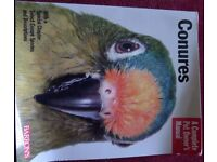 Selection of Books on Parrots, especially Conures.