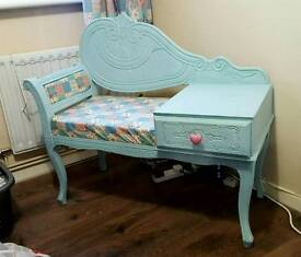 Upcycled Telephone Table / Seat