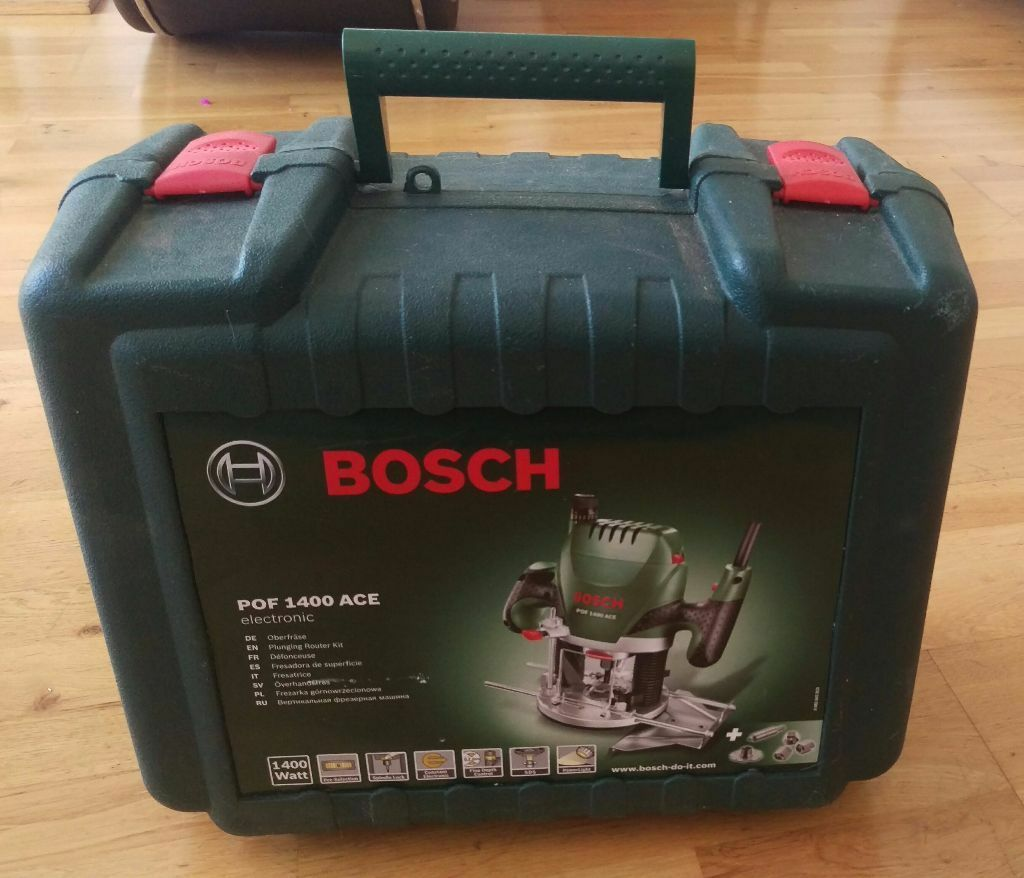 Bosch pof 1400 ace 1400w router powertool mains plug in supply bosch pof 1400 ace 1400w router powertool mains plug in supply greentooth Images