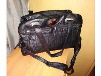New ladies large black handbag