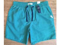 Hollister Men's Beach To Street Swim Shorts (Green) BNWT Small