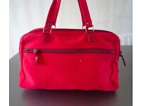 Vintage Miu Miu Red Wool & Pocketed shoulder bag with Patent Red Leather Trims – 70's chic