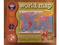 Orchard Toys World Map Giant Jigsaw And Poster