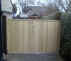 Wooden gates, manufacture and fitting. Kendal, Carnforth, Lancaster, Morecambe area
