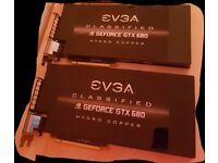 2x EVGA Classified GTX 680 Hydro Copper