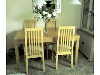 EXTENDING TABLE AND 4 CHAIRS SEATS 10