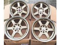 "Brand new 15"" cws bronze grid Alloy wheels 4x100 Clio corsa VW golf civic"