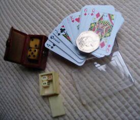 Vintage cards & dice sets