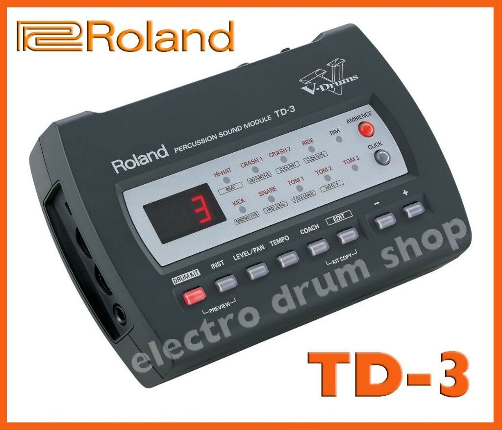 Roland TD-3 electronic V Drums module, manual, CD, mount & PSU midi  interface brain midi in out   in Brentford, London   Gumtree